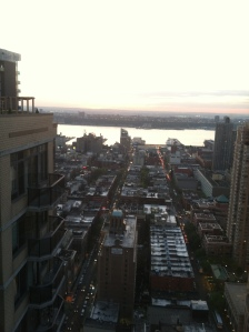 View facing the Hudson River from the Ritz Rooftop