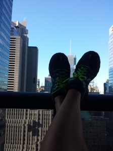 Resting after 5k in Central Park. Sept 2013
