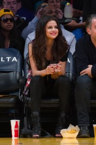 Selena at Lakers game