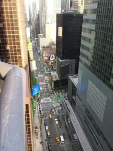 View from the LEFT of the Ritz, Timesquare